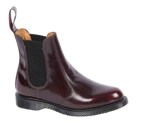 DR. MARTENS FLORA CHERRY RED ROUGE ARCADIA CHELSEA